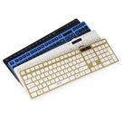 賽科德平板有線超薄靜接游戲鍵盤   SSJJG