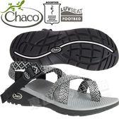 Chaco ZLW02_HD35黑白花彩 女越野紓壓運動涼鞋-Z/Cloud2夾腳款休閒鞋
