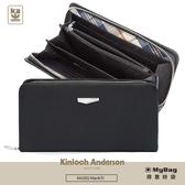 Kinloch Anderson 金安德森 皮夾 Max 原革精神 拉鍊 長夾(大) 男夾 黑色 KA203201 得意時袋