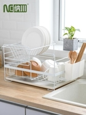 廚房置物架 納川創意家用廚房雙層碗碟盤瀝水架水槽餐具筷勺收納置物儲物架