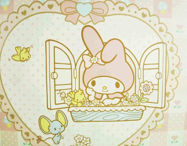 【震撼精品百貨】My Melody 美樂蒂~雙面卡片-粉開窗