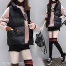 馬甲外套新款秋裝短款棉服馬甲女冬季加厚羽絨背心學院風無袖馬夾外套 維科特3C