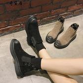 秋冬季2018新款韓版百搭ins馬丁靴女短筒英倫風小短靴網紅學生鞋