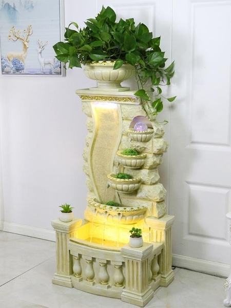 水族箱 魚缸客廳家用大型落地歐式裝飾造景創意花盆一體兩用金魚缸水族箱 裝飾界 免運