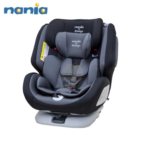 納尼亞 Nania 2020 migo系列-納歐聯名360度旋轉 0-12歲 Isofix 汽座(黑色) FB00370