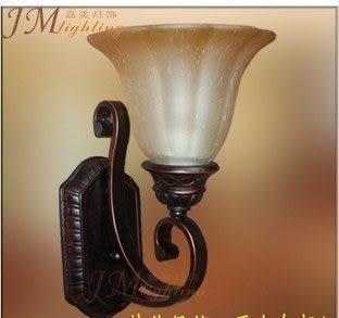 設計師美術精品館新款/單頭壁燈 鏡前燈 壁燈 歐式燈具 客廳臥室餐廳鐵藝壁燈