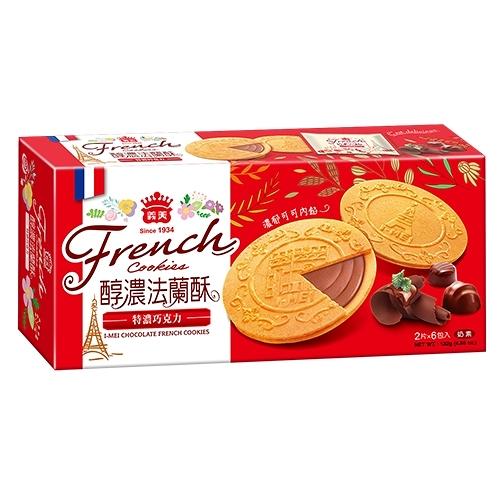 義美巧克力法蘭酥132g【愛買】