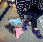 雨鞋女低筒時尚雨靴防滑短筒水鞋防滑保暖防水鞋膠鞋  K-shoes