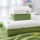 2條裝 純棉洗臉毛巾少女家用吸水速干不掉毛成人全棉洗澡浴巾【輕奢時代】