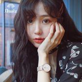 手錶女士學生韓版簡約時尚潮流防水休閒大氣石英女錶  極有家
