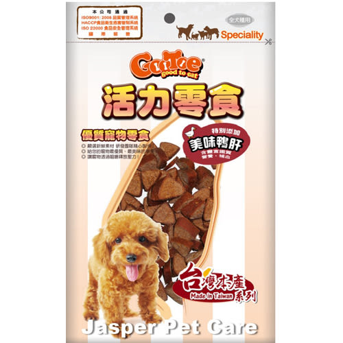 【寵物王國】活力零食-TR77鴨肝雞肉三角切片180g