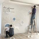北歐電視背景牆壁紙簡約現代客廳裝飾定制牆紙麋鹿立體影視牆布 樂活生活館