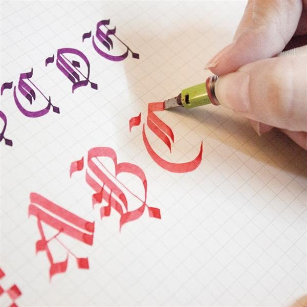 A5習字計劃。習慣寫字。方格紙【綠的事務】
