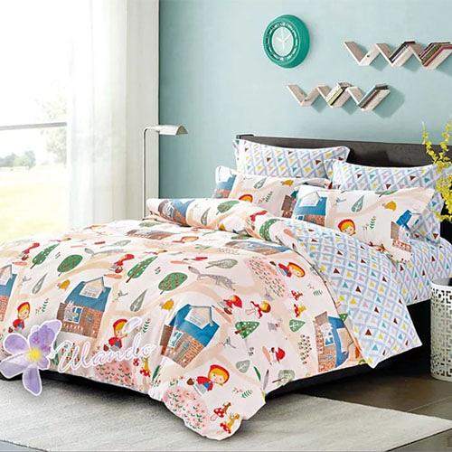 精梳棉四件式被套床包組 標準雙人-1組 (童話世界) 4947405001【KP01017】99愛買生活百貨