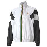 PUMA TFS 男裝 外套 夾克 風衣 寬版 立領 前袋 休閒 LOGO 印花 白 歐規【運動世界】59761002