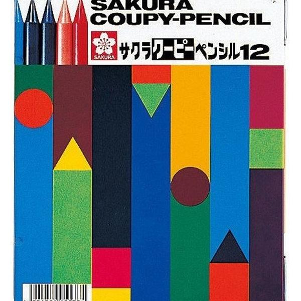 【日本製】【SAKURA】COUPY-PENCIL 不髒手彩色蠟筆 18色(一組:5個) SD-3698 - 日本製