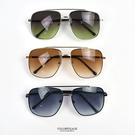 太陽眼鏡 復古金屬方型漸層色片NY450
