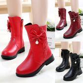 雪地靴 童鞋女童靴子 新款韓版秋冬季兒童棉鞋女孩公主棉靴冬鞋雪地靴 新年禮物