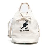 KANGOL 米白 圓筒袋 帆布 英國 (布魯克林) 6925300701
