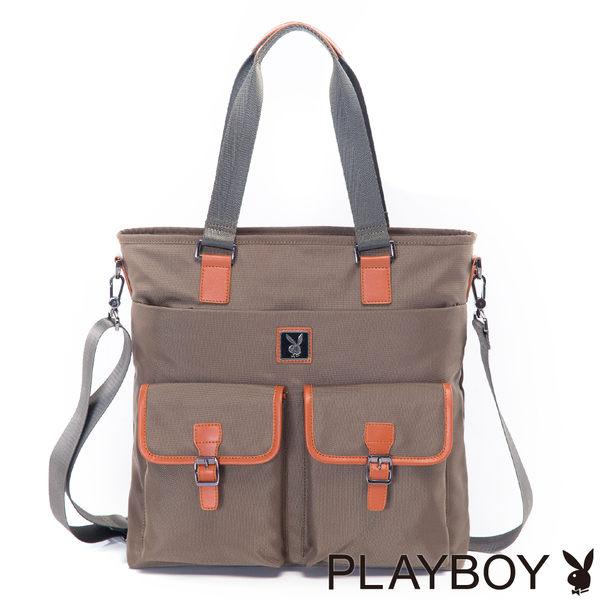 PLAYBOY- Jungle Camp 叢林野營系列 2WAY肩背包-橄欖綠色