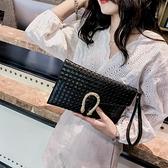手包女士手拿包2020新款拿手包女氣質新款單肩斜跨日韓宴會信封包 向日葵