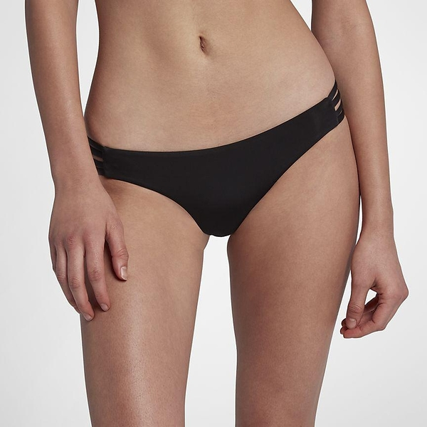 HURLEY|女 QUICK DRY MAX SURF BOTTOM 比基尼褲-QUICK DRY-黑