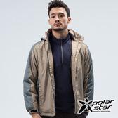 PolarStar 中性 鋪棉連帽保暖外套『綠卡其』 P18217 戶外 休閒 登山 露營 保暖 禦寒 防風 鋪棉