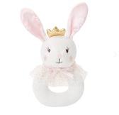 美國 Elegant Baby 童趣針織手搖鈴 - 小兔子公主