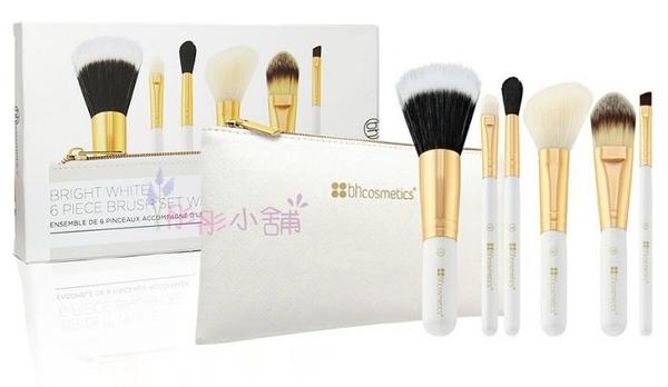 美國 BH Cosmetics Bright White / Neon Pink 6件刷具組+化妝包 BH【彤彤小舖】
