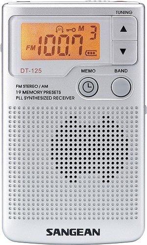 ^聖家^SANGEAN山進二波段調頻立體 / 調幅 數位式口袋型收音機 DT-125【全館刷卡分期+免運費】