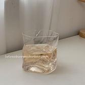 韓國ins異形透明玻璃杯扭扭水杯威士忌杯復古牛奶杯咖啡杯拿鐵杯 韓國時尚週