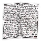 CLATHAS 滿版字母印花純綿帕領巾(白色)989265-17