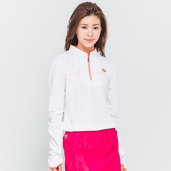 TOP GIRL 陽光律動運動立領上衣-白