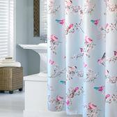 高檔浴室布簾子遮光沐浴隔斷簾洗澡防水簾不透明浴簾套裝240定做