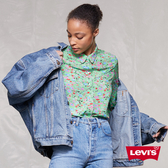 Levis 女款 古著牛仔外套 / 復古老爹風 / Oversize極寬鬆版型 / Lyocell 天然環保纖維
