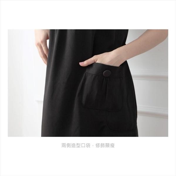 漂亮小媽咪 造型鈕扣洋裝 【D1125GU】 口袋 純色 無袖 孕婦 背心裙 吊帶裙 孕婦連身裙 孕婦裝