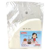 金時代書香咖啡  TIAMO V02圓錐咖啡濾紙1-4人 100入(袋裝)  HG3725W