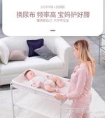 泡泡熊嬰兒換尿布台可折疊洗澡新生兒寶寶多功能便攜式床上護理台 艾莎YYJ