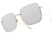Dior太陽眼鏡 STELLAIRE1 83IOT (淡金-白水銀藍鏡片) 時尚率性金屬款 墨鏡 #金橘眼鏡