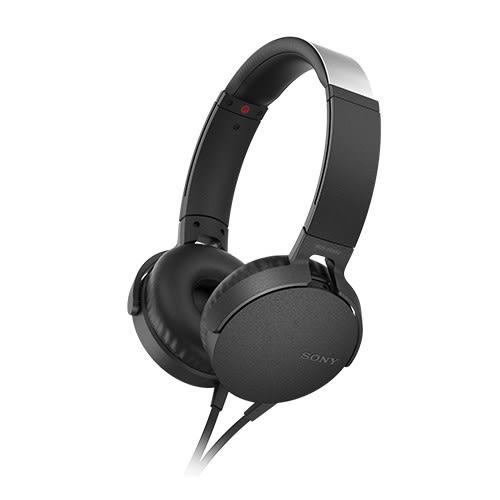 【公司貨-非平輸】SONY 重低音可通話耳罩式有線耳麥 MDR-XB550AP-B 黑