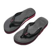 WAVE3  黑紅 織布 夾腳拖 拖鞋 男款(布魯克林) 17101001