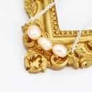 【粉紅堂 飾品】甜美淡水珍珠項鍊*粉橘色*