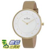 [104美國直購] Skagen 女士手錶 Women s SKW2137 Gitte Quartz 2 Hand Stainless Steel Light Brown Watch $3569