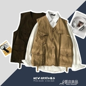 馬甲男 男士無袖背心馬甲日系潮牌簡約風工裝外套胖子大碼寬鬆慵懶風馬甲 原本良品