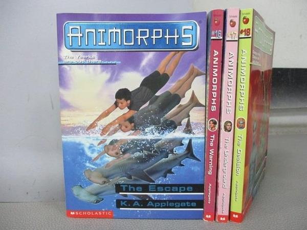 【書寶二手書T1/原文小說_MOV】Animorphs-The Decision_The Warning等_共4本合售
