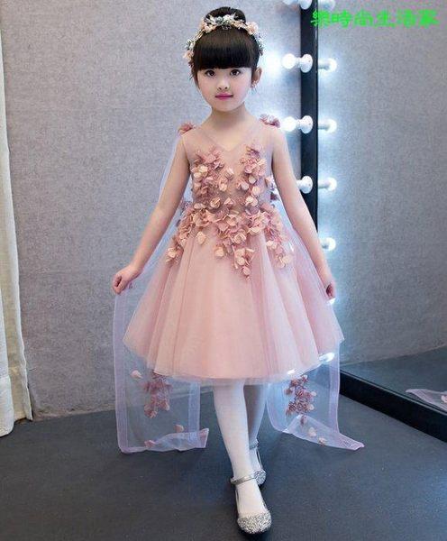 2017兒童禮服 生日舞會 鋼琴演出表演蓬蓬裙禮服LC588
