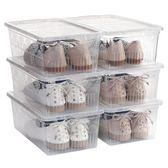 6組加厚透明鞋盒塑料男女鞋子收納整理箱盒有蓋防潮防塵整理儲物鞋箱jj