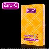 保險套 避孕套 情趣用品 ZERO-O-零零超觸感型衛生套12入 +潤滑液1包