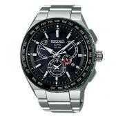 【僾瑪精品】SEIKO 精工 ASTRON GPS衛星定位雙時區鈦金屬錶-銀x黑/8X53-0AV0D