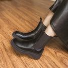Queen Shop【05060127】厚底切爾西中筒靴 36~41*現+預*